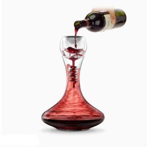 Final Touch Twister Wine Aerator & Decanter Set - Gift Boxed Wine Oxygenation Set