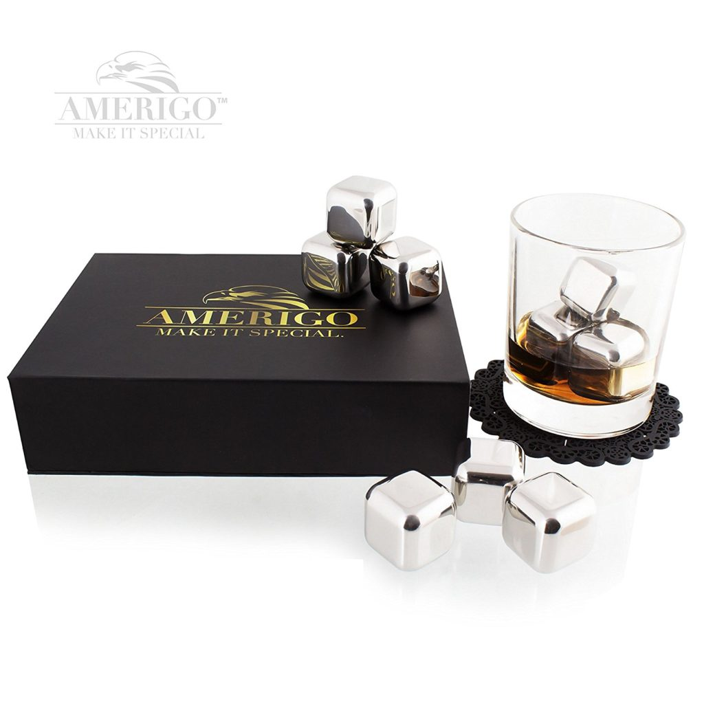 whiskey stones stainless steel
