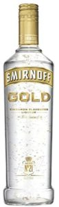 Smirnoff Gold Cinnamon Flavoured Liqueur with Gold leaf