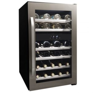 Danby 46 Bottle Freestanding, Dual Zone Wine Cooler in Stainless Steel